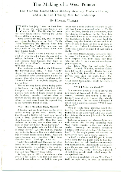 The Making of a West Pointer story 1952 (Image1)