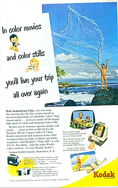 Kodak Color Movies Ad 1952