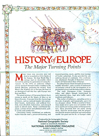 History of Europe -The major turning points (Image1)