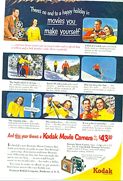 Kodak Camera Ad 1952