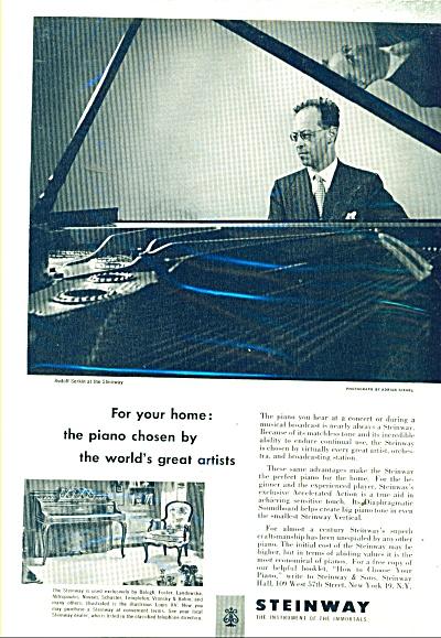 Steinway Piano -  RUDOLF SERKIN - AD 1952 (Image1)