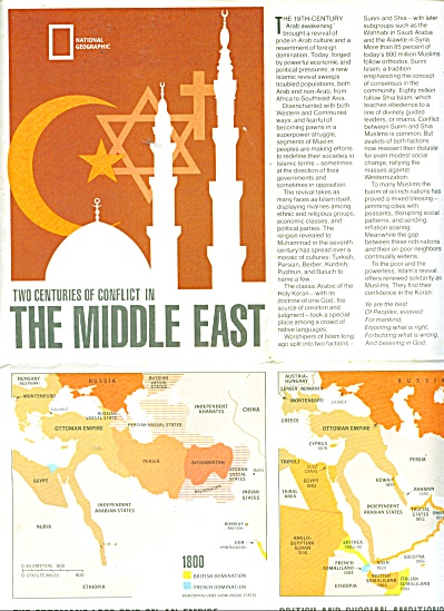 Mideast in Turmoil map and story - 1980 (Image1)