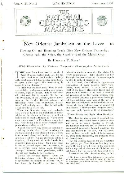 New Orleans: Jambalaya on the Levee - 1953 (Image1)