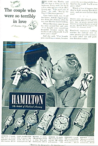 1939 Hamilton Watch AD - Couple Terribly in Love 6 Mode (Image1)