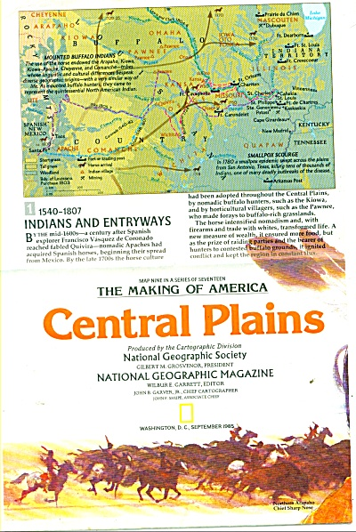 Central Plains )(he Making of America) map (Image1)