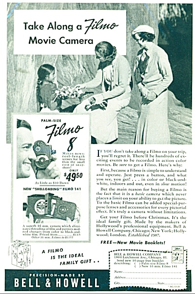Bell & Howell cameras ad  1939 (Image1)