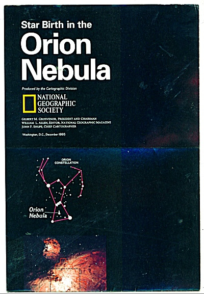 Star Birth in the ORION NEBULA  map 1995 (Image1)