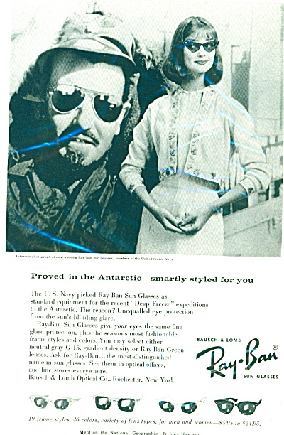 Ray-Ban sun glasses ad 1959 (Image1)