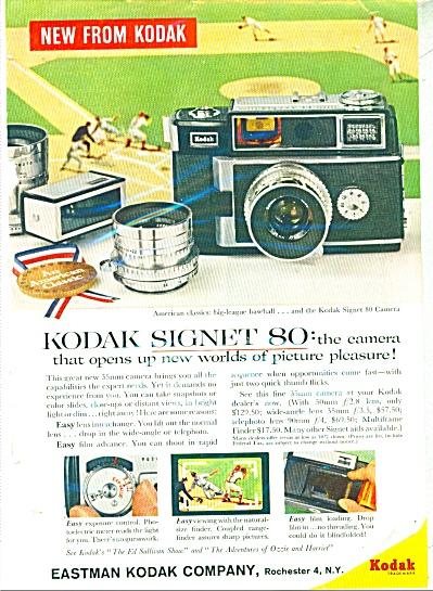 1959 Eastman Kodak Camera AD - Signet 80 35 mm  (Image1)