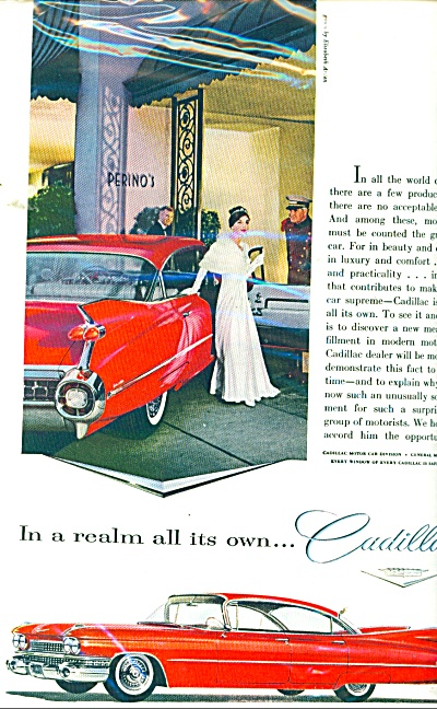 1959 Cadillac Promo CAR AD - RED Arden GOWN (Image1)