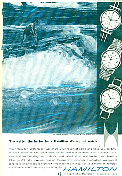 Hamilton Watches ad 1959 SEA LECTRIC ACCUMATIC LAKELAND (Image1)