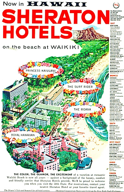 Hawaii Sheraton hotels ad 1959 (Image1)