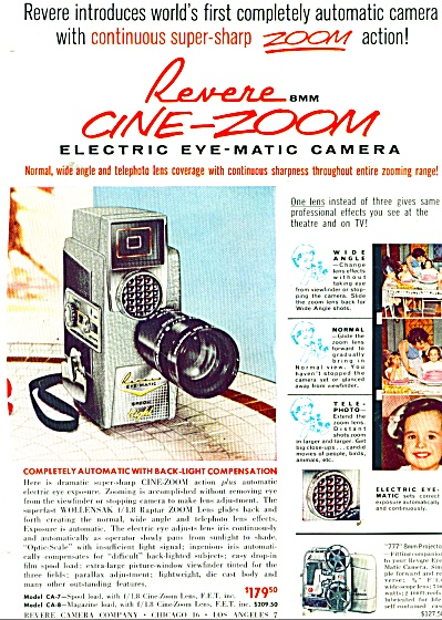 1959 Revere 8 MM cine zoom camera ad (Image1)