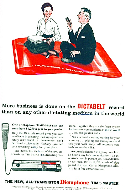 Dictaphone Time Master Ad 1959