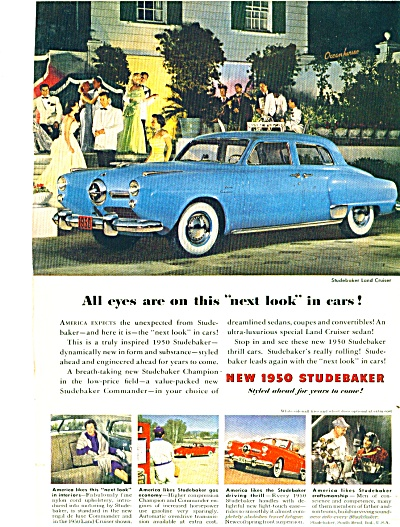 1949 for 1950 Studebaker Land Cruiser Car Ad Promo (Image1)