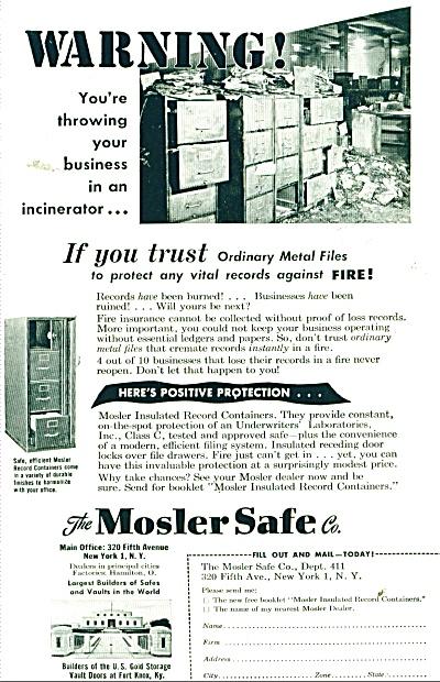 Mosler Safe Co., Ad  1949 (Image1)