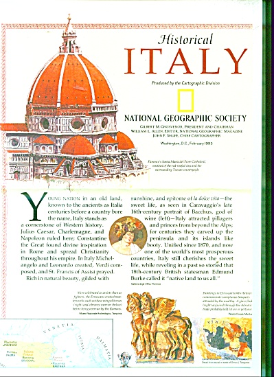 Historical Italy map and history 1995 (Image1)