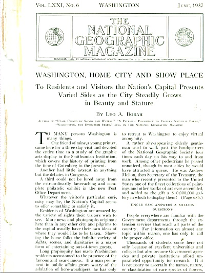 Washington, Home City and show place story (Image1)