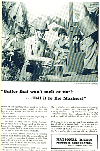 1943 National Dairy SOLDIERS MELTING BUTTER A (Image1)