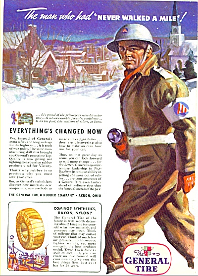 1943 GENERAL TIRE Sector Protector ARTWORK AD (Image1)
