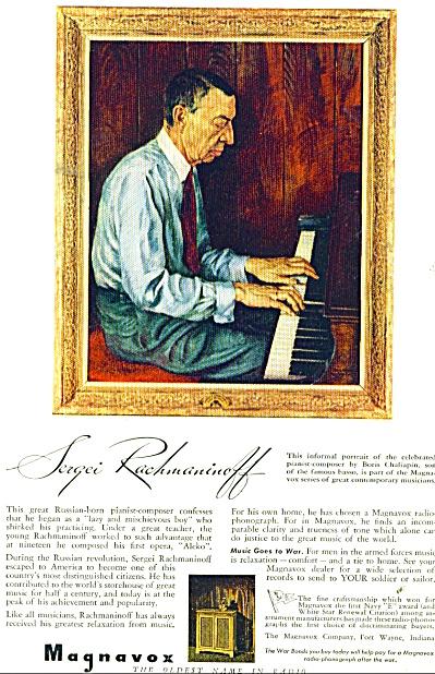 1943 Magnavox Radio AD SERGEI RACHMANINOFF (Image1)