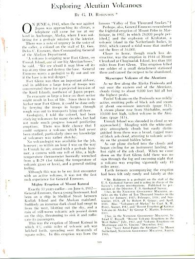 Aleutian Volcanoes story 1948 (Image1)