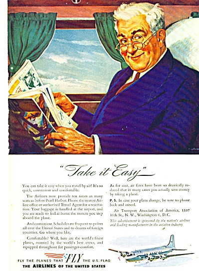 1946 Airlines of the United States OLDER MAN (Image1)