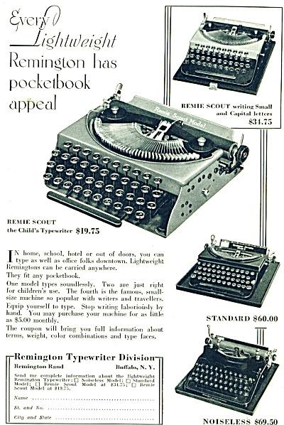 1932 Remington Typewriter AD - Original Advertisement  (Image1)