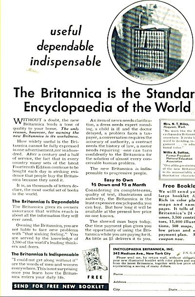 Britannica encyclopaedia ad 1932 (Image1)