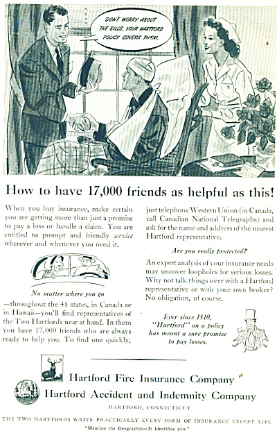 1941 Hartford Fire Insurance Company ad (Image1)