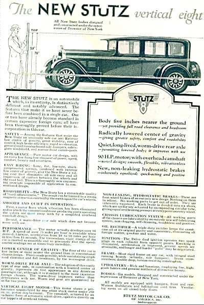 New Stutz Vertical eight automobile ad 1926 (Image1)
