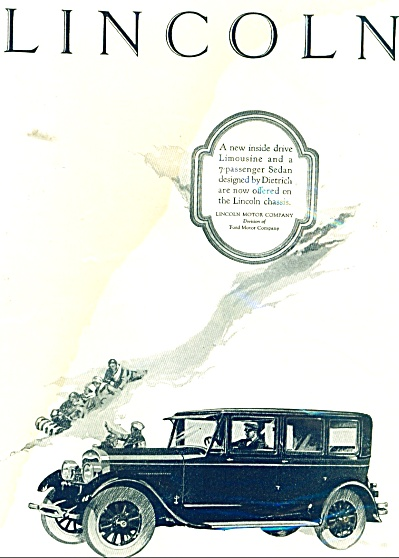 1926 Ford LINCOLN Promo CAR AD COOL ARTWORK (Image1)