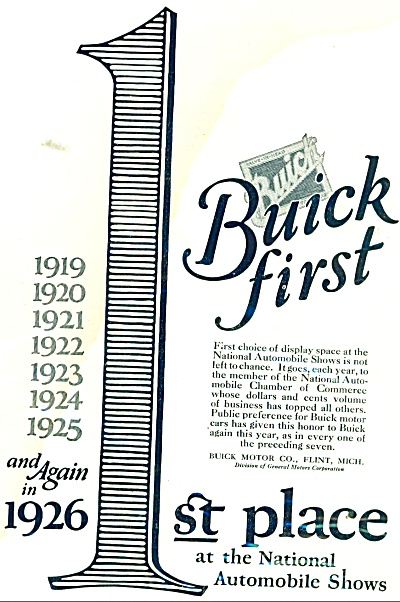 Buick automobile first ad 1926 (Image1)