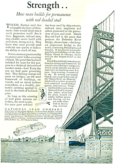 1926 AD National LEAD Company DELAWARE Bridge (Image1)