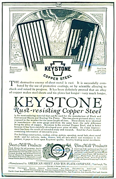 Keystone rust resisting copper steel ad 1926 (Image1)