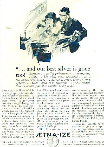 Aetna Life Insurance Company - 1926 AD (Image1)