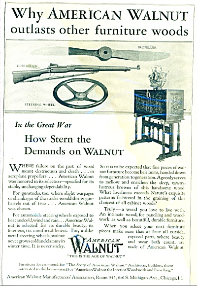 American Walnut Manufacturers Association Ad