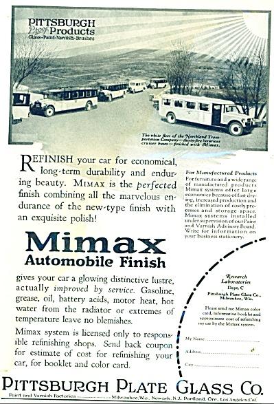 Mimax automobile finish ad 1926 (Image1)