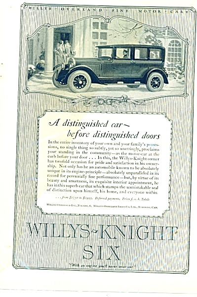 1926 Willys- Knight Six automobile ad (Image1)