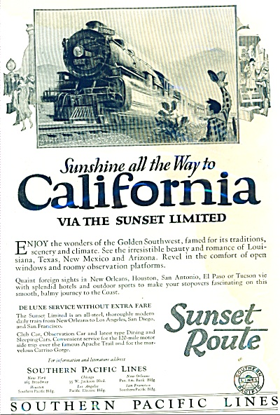 Southern Pacific Lines ad 1926 (Image1)
