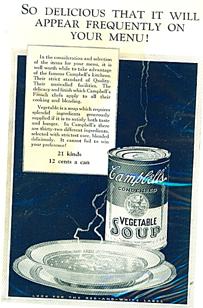Campbell's Vegetable soup ad - 1926 (Image1)