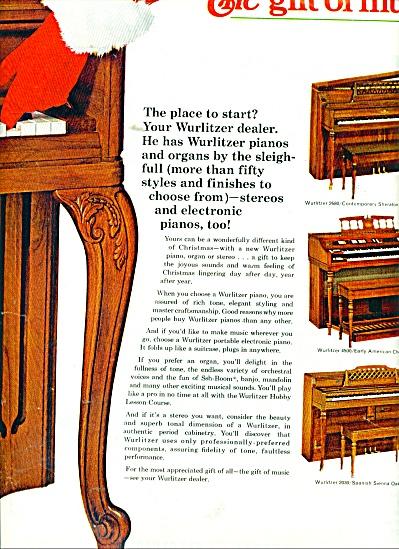 Wurlitzer pianos, organs, ad  1966 (Image1)