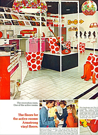 1966 Armstrong Vinyl Coronelle Corlon AD (Image1)