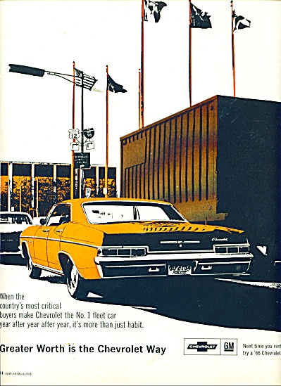 Chevrollet automobile ad 1966 (Image1)