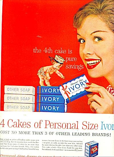 1957 IVORY SOAP 4th CAKE AD (Image1)