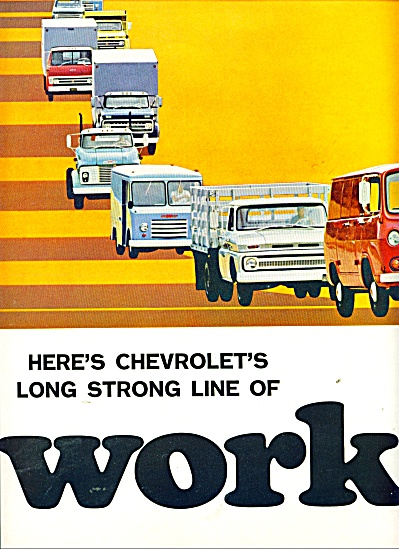 1965 Chevy Chevrolet Truck 2pg Ad More Models