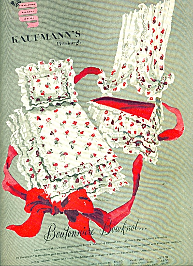 Kaufman's Boutonniere Bowknot ad 1946 (Image1)
