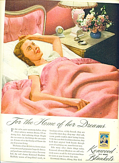 Kenwood all wool blankets ad WOMAN AWAKE BED (Image1)