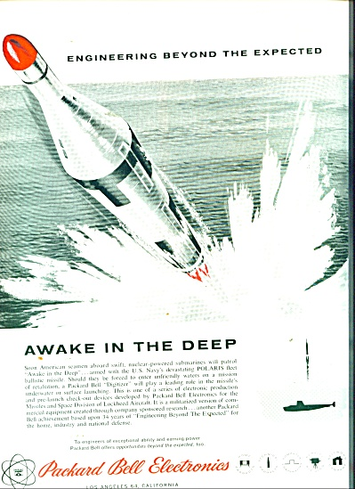 1959 Packard Bell US Navy MISSILE POLARIS AD #2 (Image1)