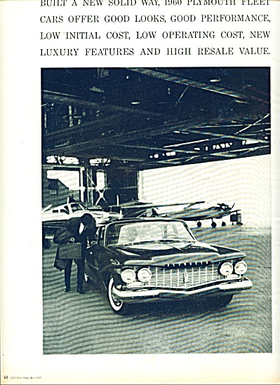 Plymouth automobile for 1960 ad (Image1)
